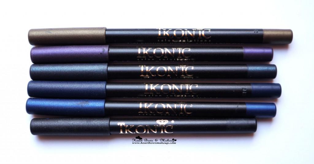 Kryolan Ikonic Gel Eye Liner Pencils Review Swatches & Price India