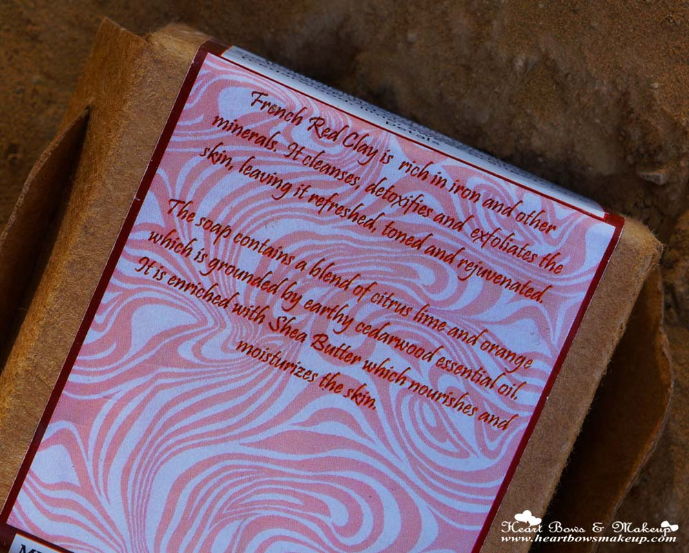Burst Of Happyness French Red Clay Soap