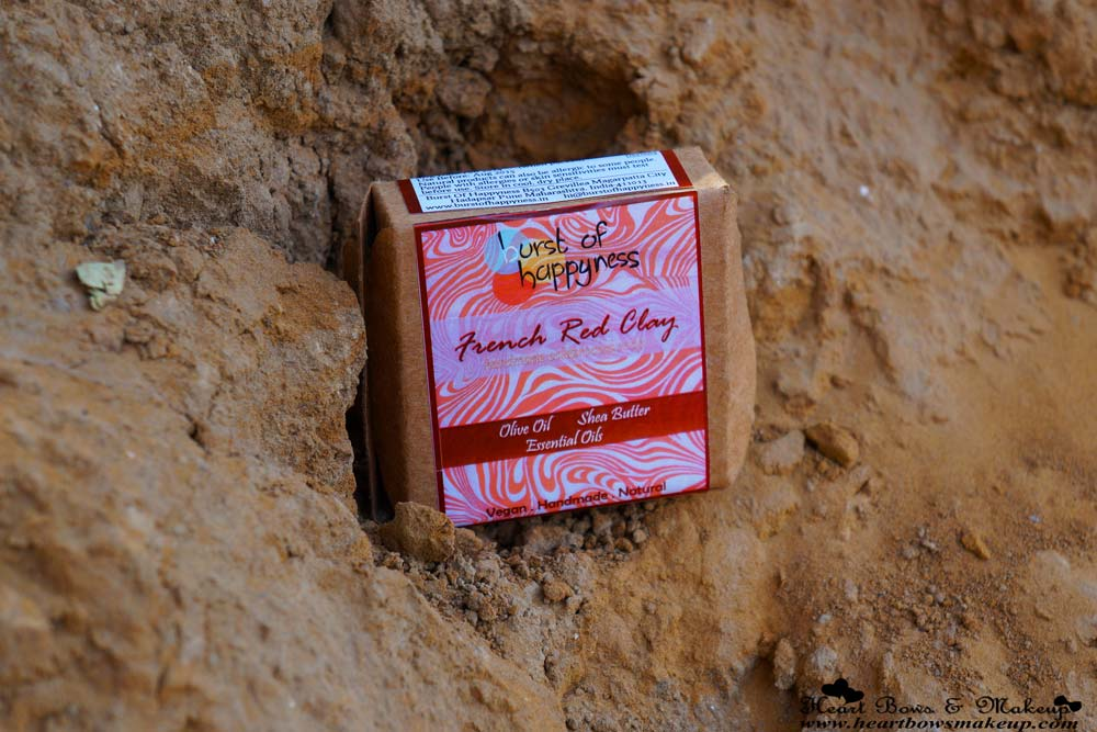 Burst Of Happyness French Red Clay Soap Review & Price