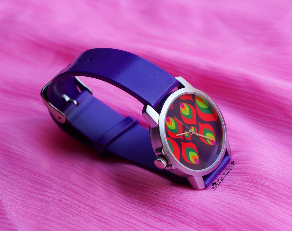 India Circus Review & Haul: Multi-coloured Leaf Motif Women's Watch