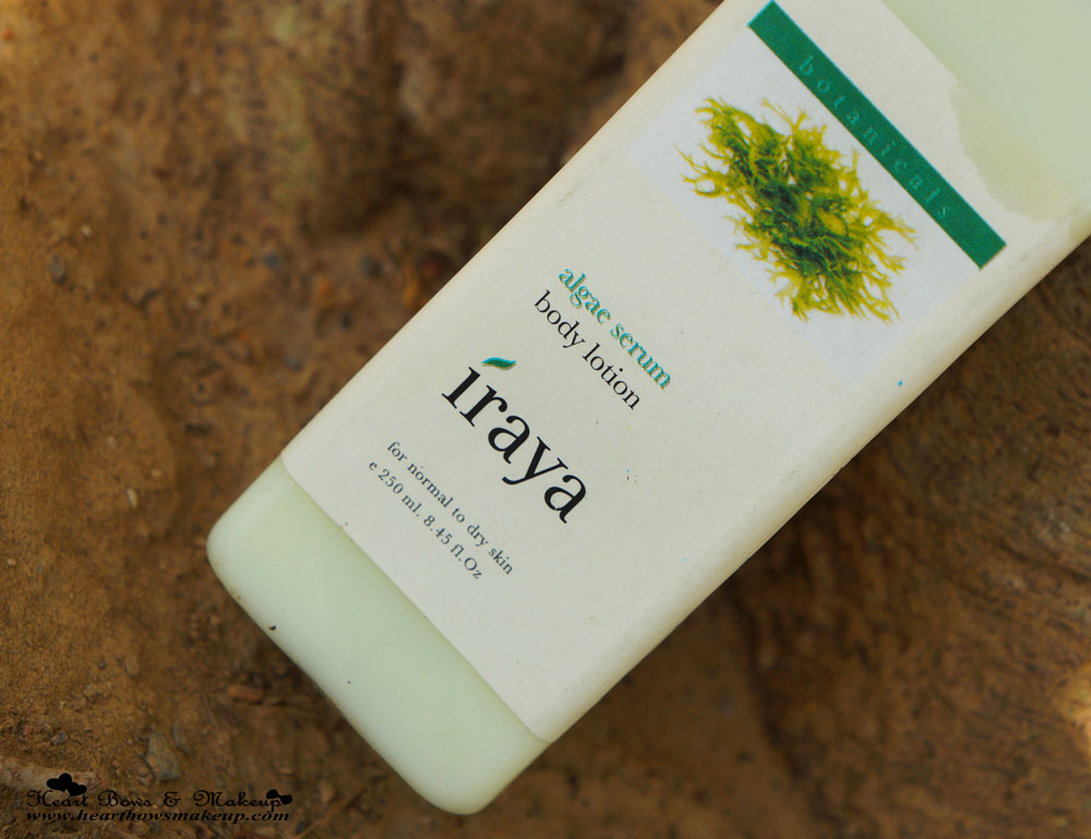 Iraya Algae Serum Body Lotion Review: The Best Body Lotion for Summers
