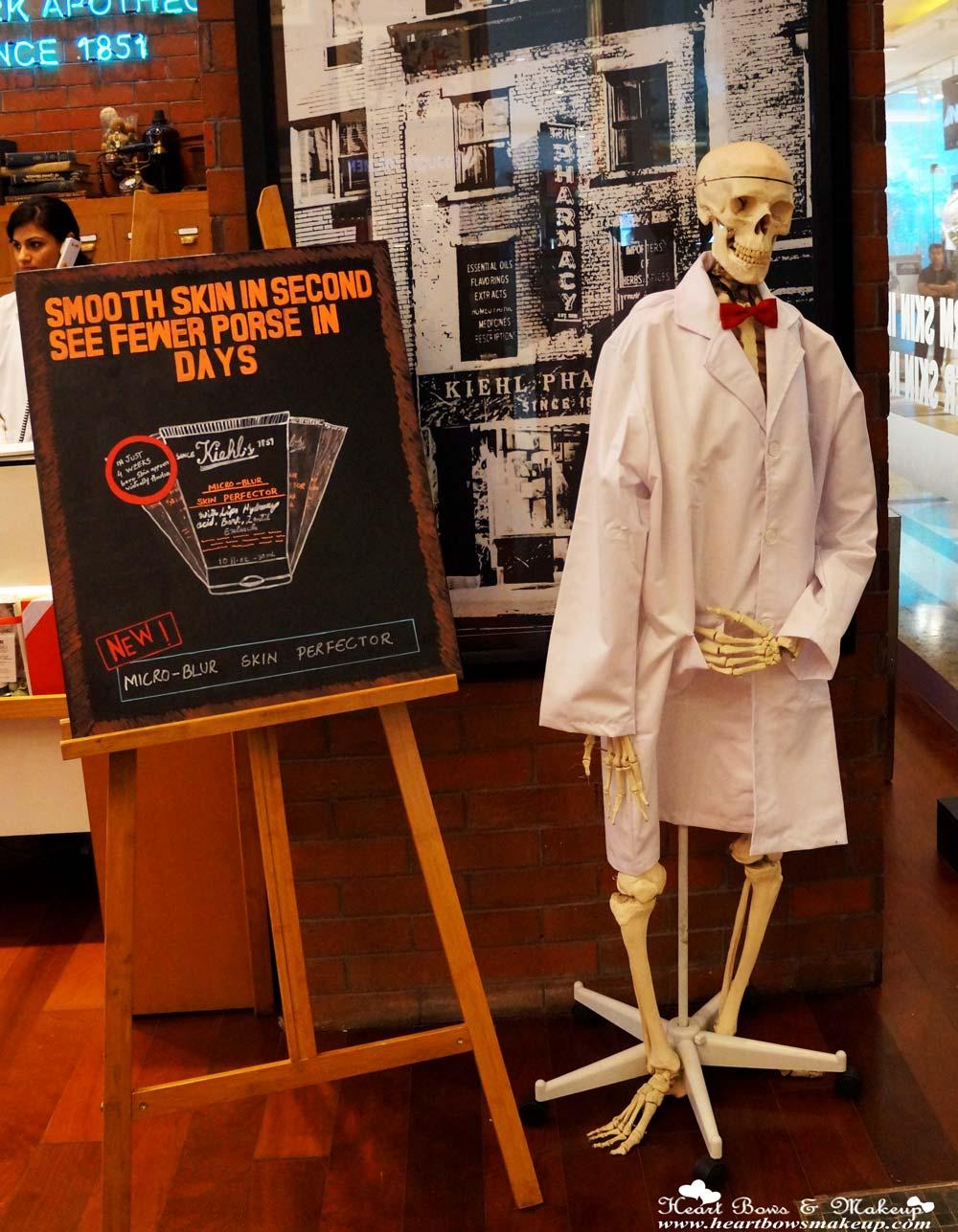 Mr. Bones, Kiehls Store in Delhi