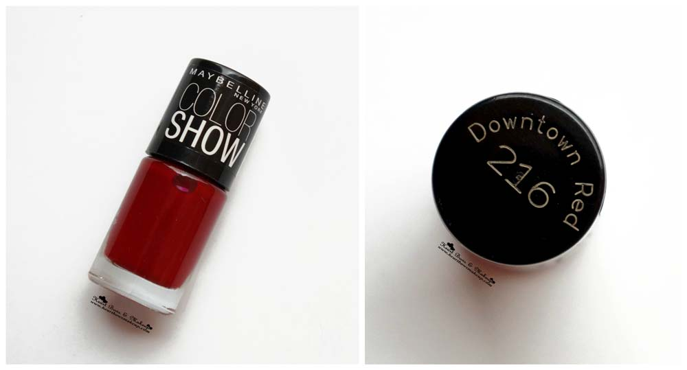 Maybelline InstaGlam Wedding Box: Maybelline Color Show Nail Polish Downtown Red Review