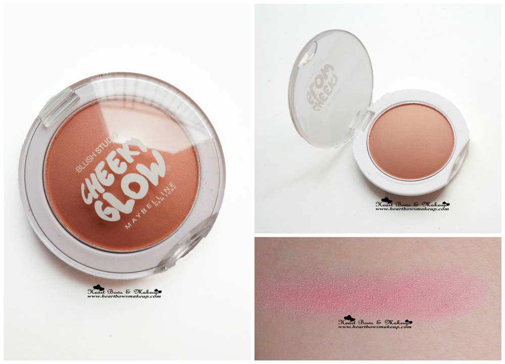 Maybelline InstaGlam Box: Maybelline Cheeky Glow Blush - Creamy Cinnamon Review & Swatch