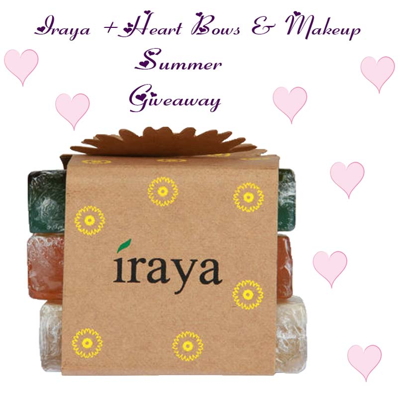 Win Free products indian giveaways contests: Iraya Hamper Natural Soap Kit