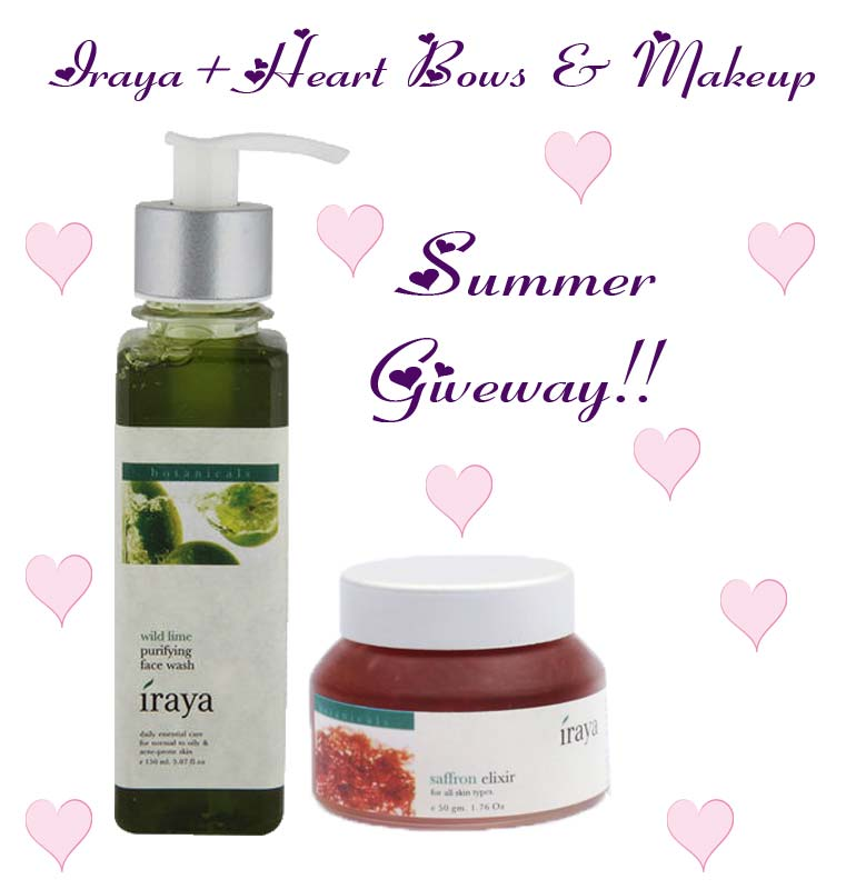 Win Free products indian giveaways contests: Iraya Hamper Wild Lime Face Wash & Saffron Elixir