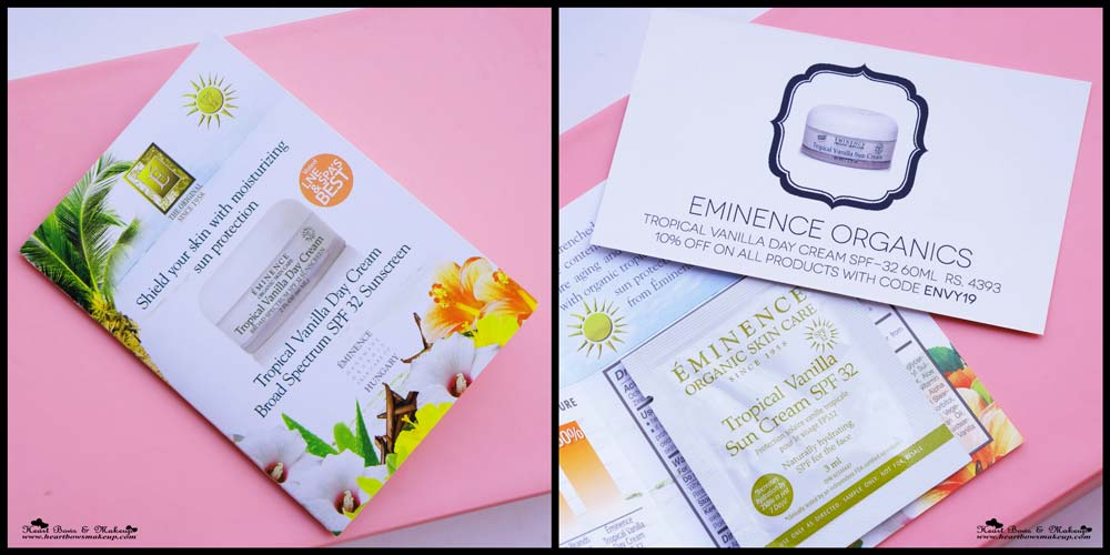 My Envy Box May: Eminence Organics Tropical Vanilla Day Cream SPF 32