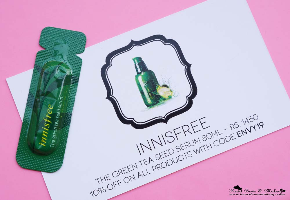 My Envy Box May Products & Samples: Innisfree Green Tea Seed Serum