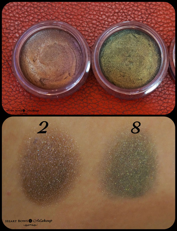 Deborah Milano 2 in 1 Long Lasting Cream Eyeshadow With Primer 2 & 8 Review & Swatches