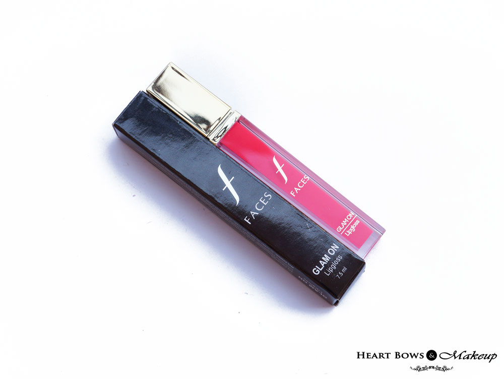 Faces Canada  Glam On Lip Gloss Zing Pink Review & Swatch