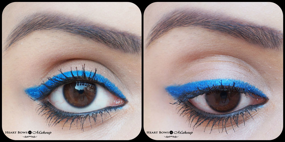 Faces Canada Superlongwear Kohl Persian Blue Swatches, EOTD & Review