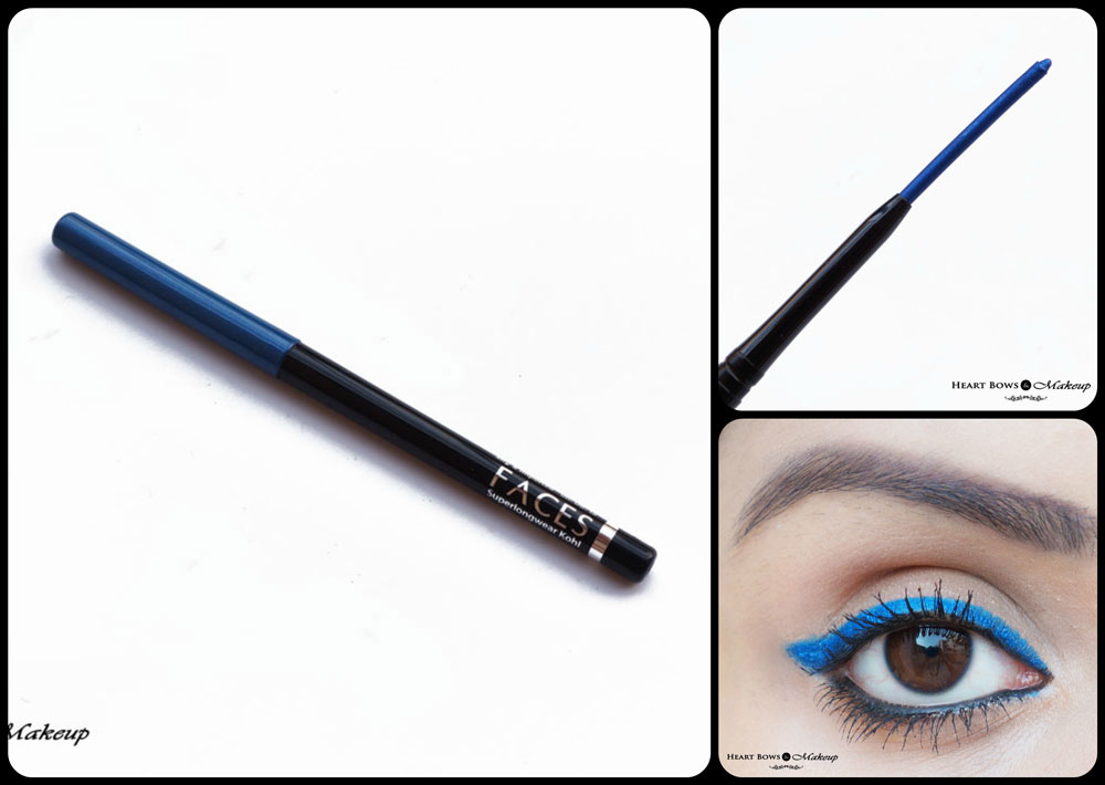 Faces Canada Superlongwear Kohl Persian Blue Review, Swatches, Price & Buy Online India