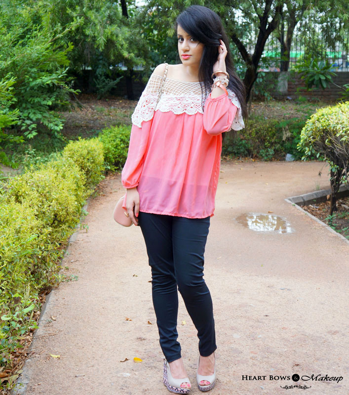 Indian Beauty & Makeup Blog: A Summery Coral Outfit