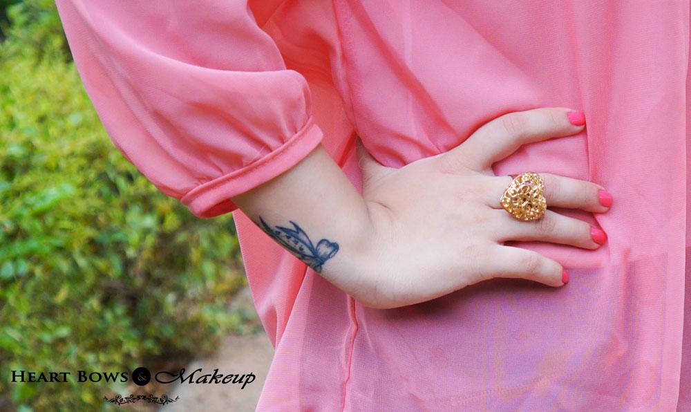 Indian Fashion Blog; Statement Heart Ring