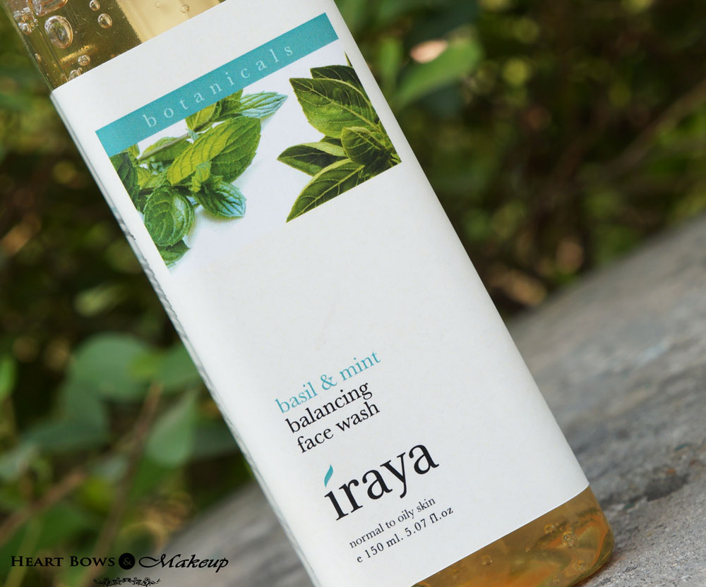Iraya Basil & Mint Balancing Face Wash Review & Buy Online in India