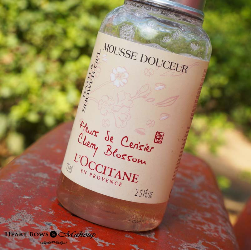 L'Occitane Cherry Blossom Bath & Shower Gel Review India