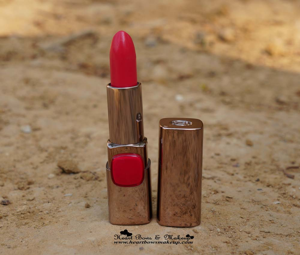 Loreal Moist Matte Lipstick Raspberry Syrup Review India