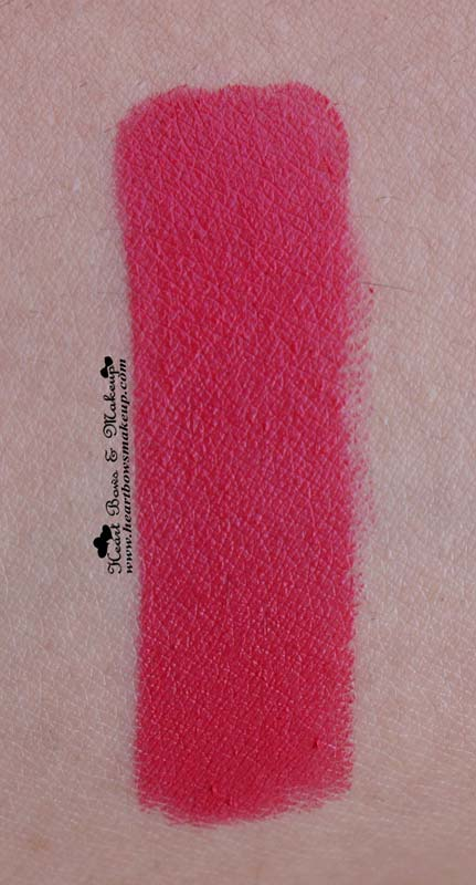 Loreal Moist Matte Raspberry Syrup Lipstick Swatch & Review: MAC All Fired Up Dupe