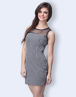 Fab Alley Review & Haul: Rock Chic Houndstooth Dress