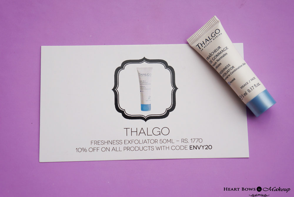 My Envy Box June Review & Products: Thalgo Freshness Exfoliator