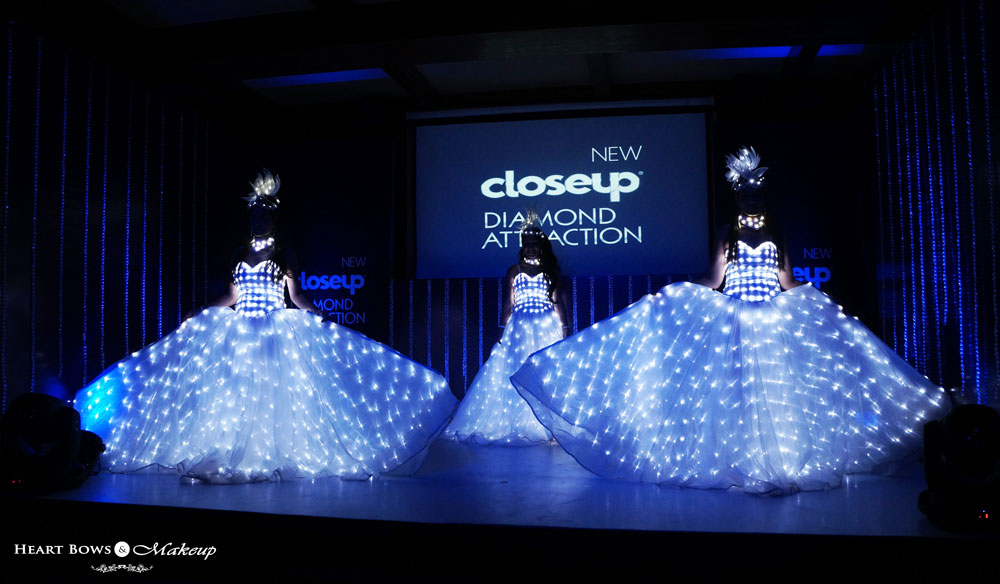 Closeup Diamond Attraction Toothpaste Launch
