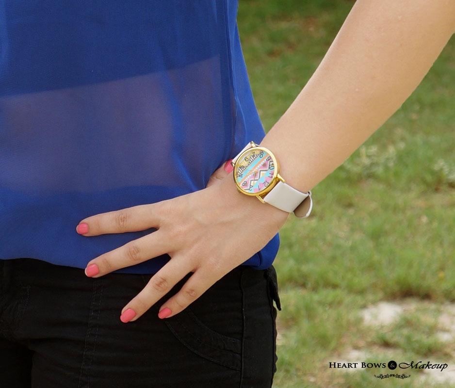 Delhi Beauty Blog: White Aztec Wrist Watch