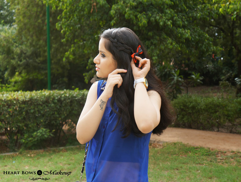 Indian Beauty & Makeup Blog: Side Braid With Bow Clip