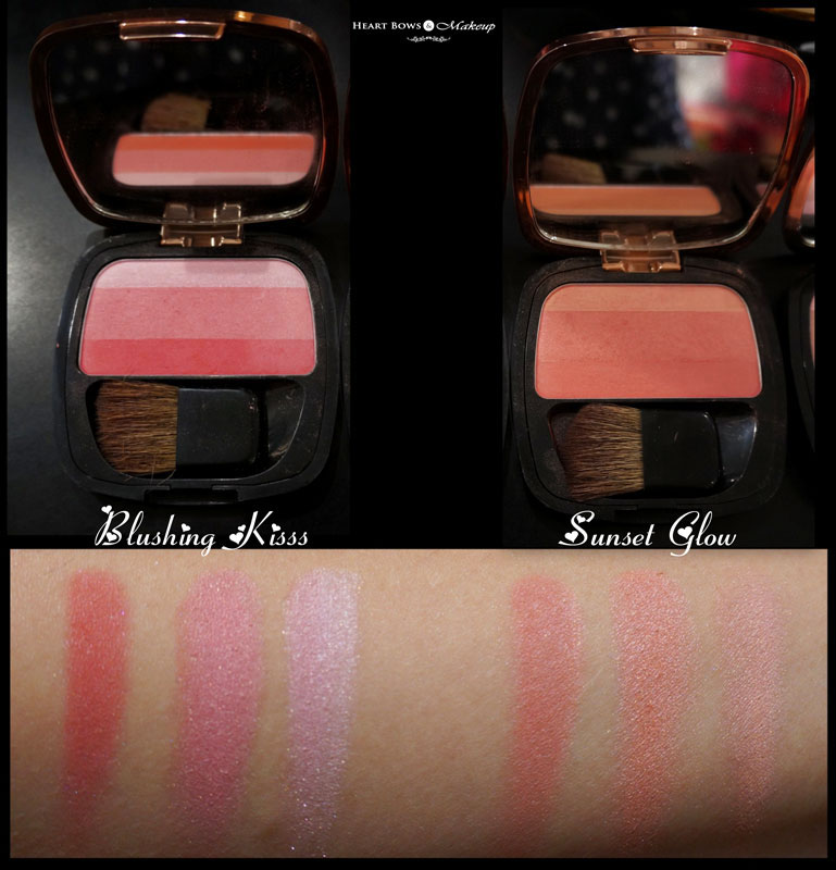 L'Oreal Lucent Magique Blush Of Light Glow Palette Review & Swatches: Blushing Kiss & Sunset Glow