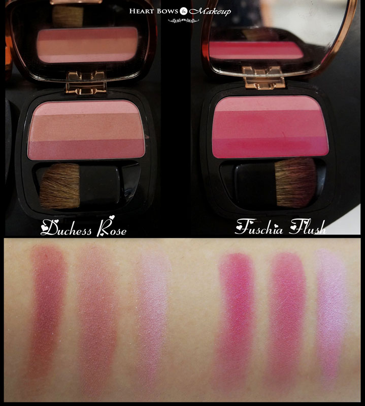 L'Oreal Lucent Magique Blush Of Light Glow Palette Review & Swatches: Duchess Rose & Fuschia Flush