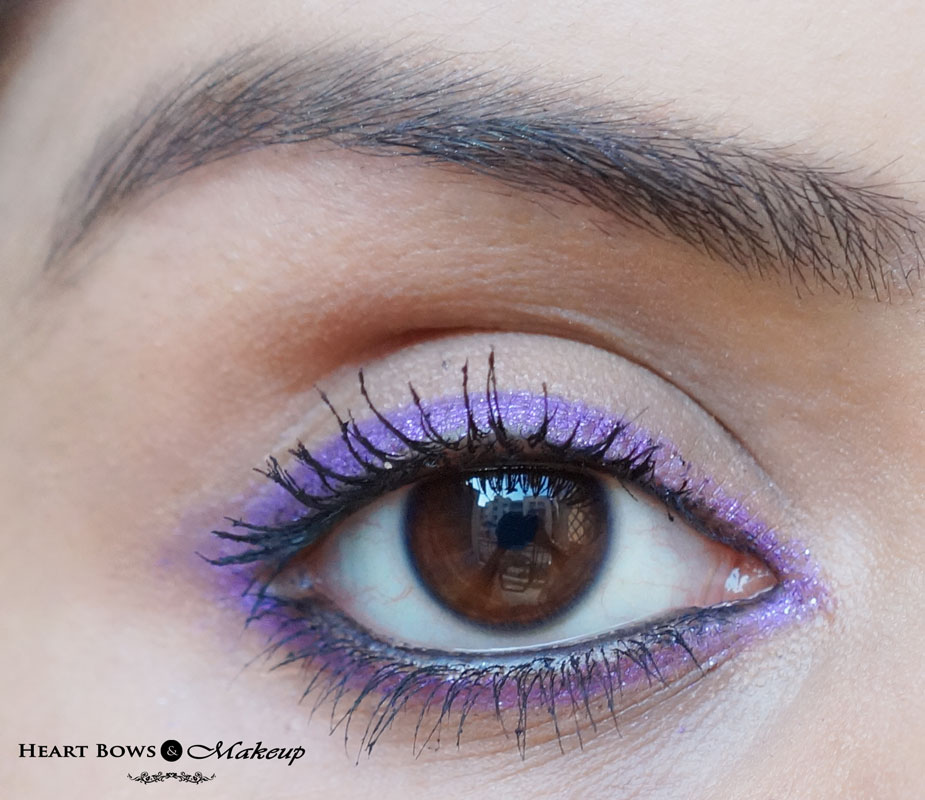 Lotus Herbals Purestay Eye Contour Definer Royal Orchid Swatch, EOTD & Review