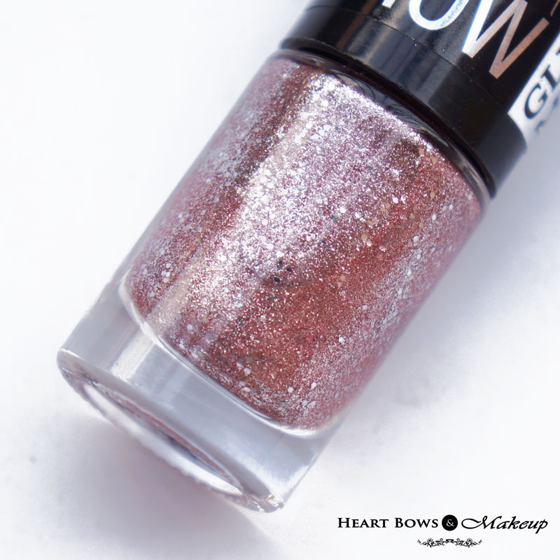 Maybelline Glitter Mania Nail Polish Pink Champagne Review, Swatches & Price India