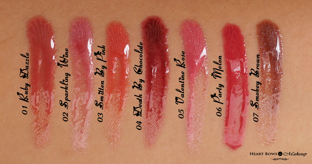 Streetwear Lipgloss Swatches Amp Price Heart Bows Amp Makeup