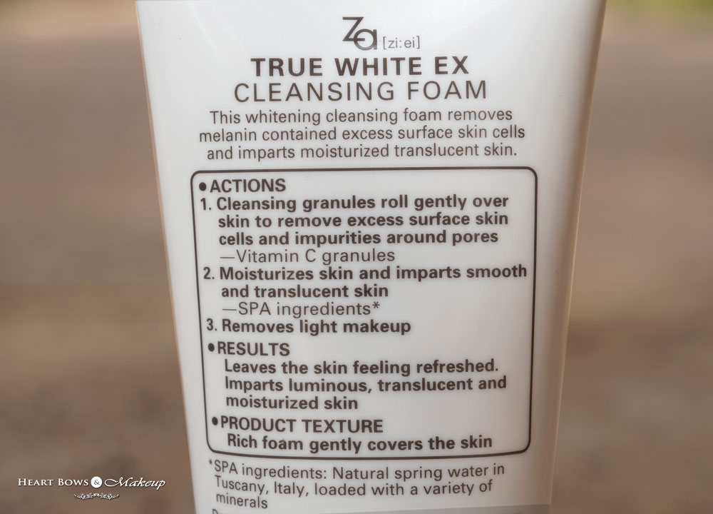 ZA True White Cleansing Foam Review