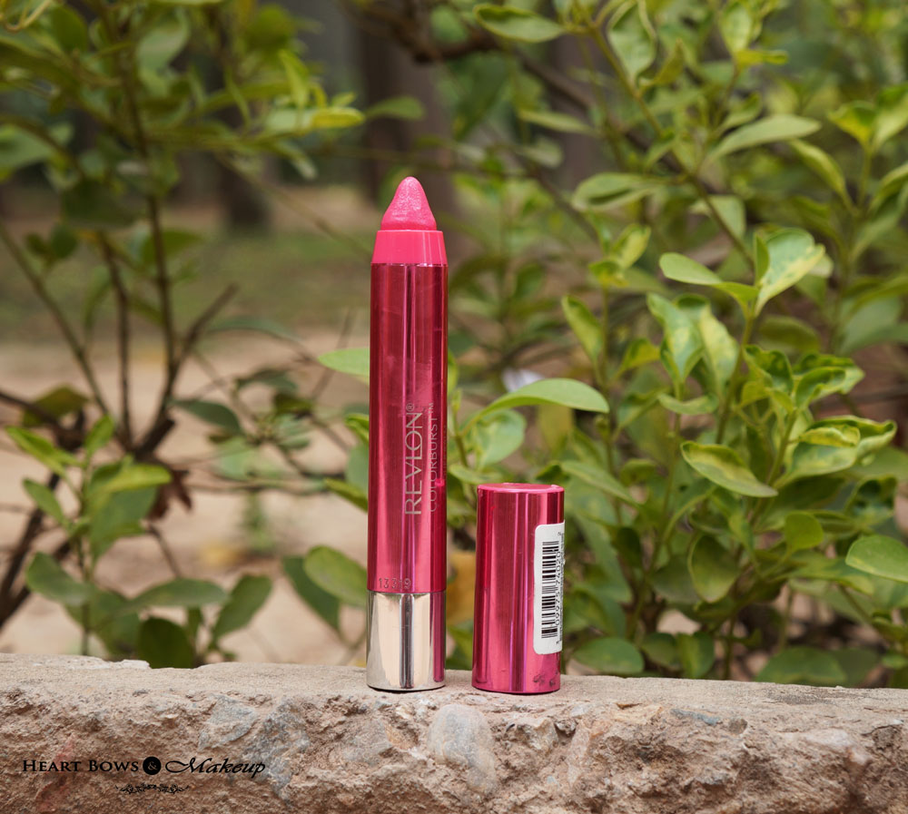Revlon Colorburst Lacquer Lip Crayon Coquette Review, Swatches & Price India