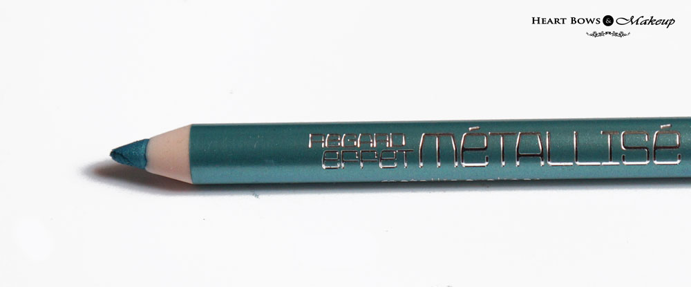 Bourjois Metallic Eye Pencil Vert Pepite Review, Swatches & Price India