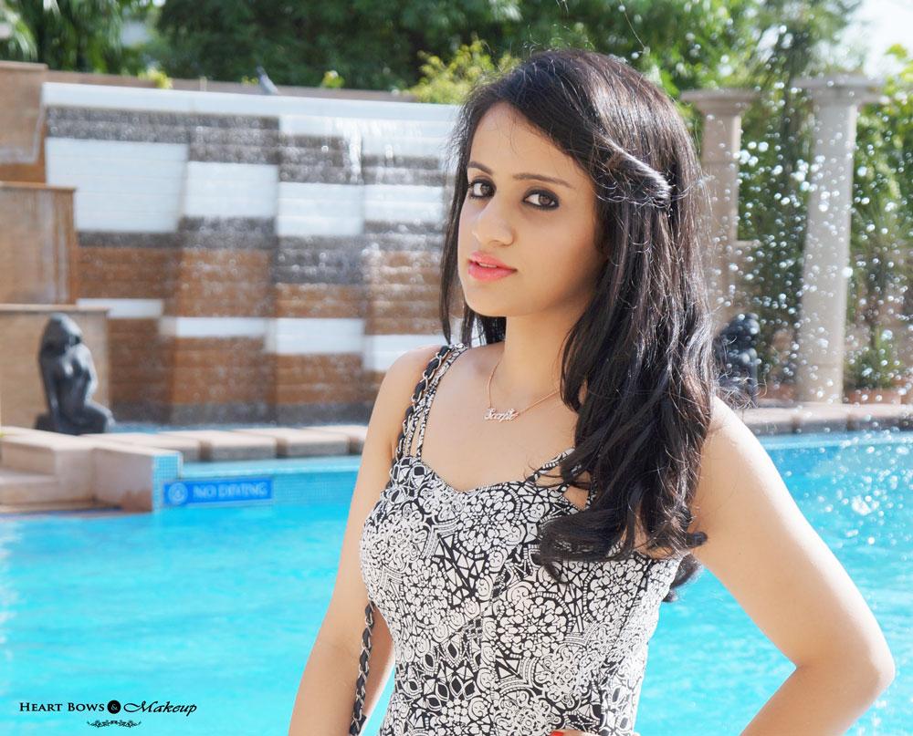 Indian Fashion & Beauty Blog: Dark Kohled Eyes & Peachy Pink Lips