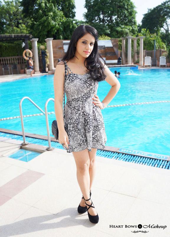 Indian Fashion Blog: OOTD Feat ASOS Multi Strap Aztec Playsuit & High Black Heels!