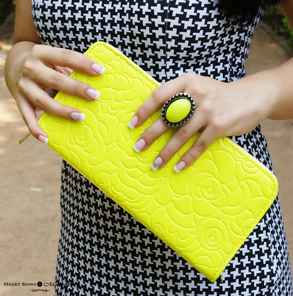 Indian Fashion Blog: Outfit Of The Day feat Neon Clutch & Statement Ring