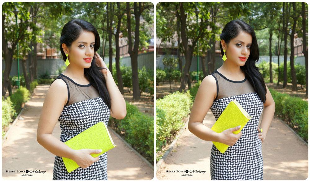 Indian Makeup & Beauty Blog: Glamorous Cocktail Party Makeup & Outfit