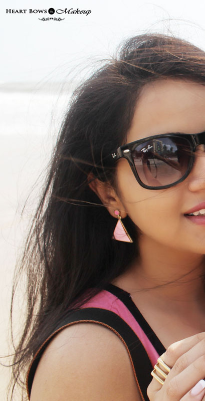 Indian Fashion Blog: Beach Outfit feat A Pink Dress & Sunnies