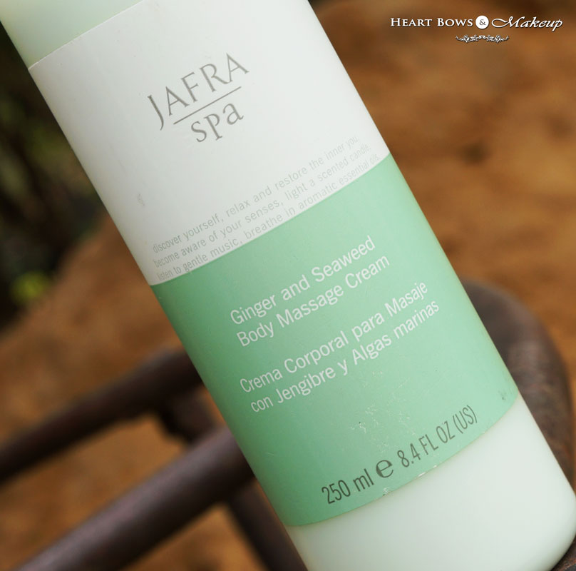 Jafra Ginger & Seaweed Body Massage Cream Review