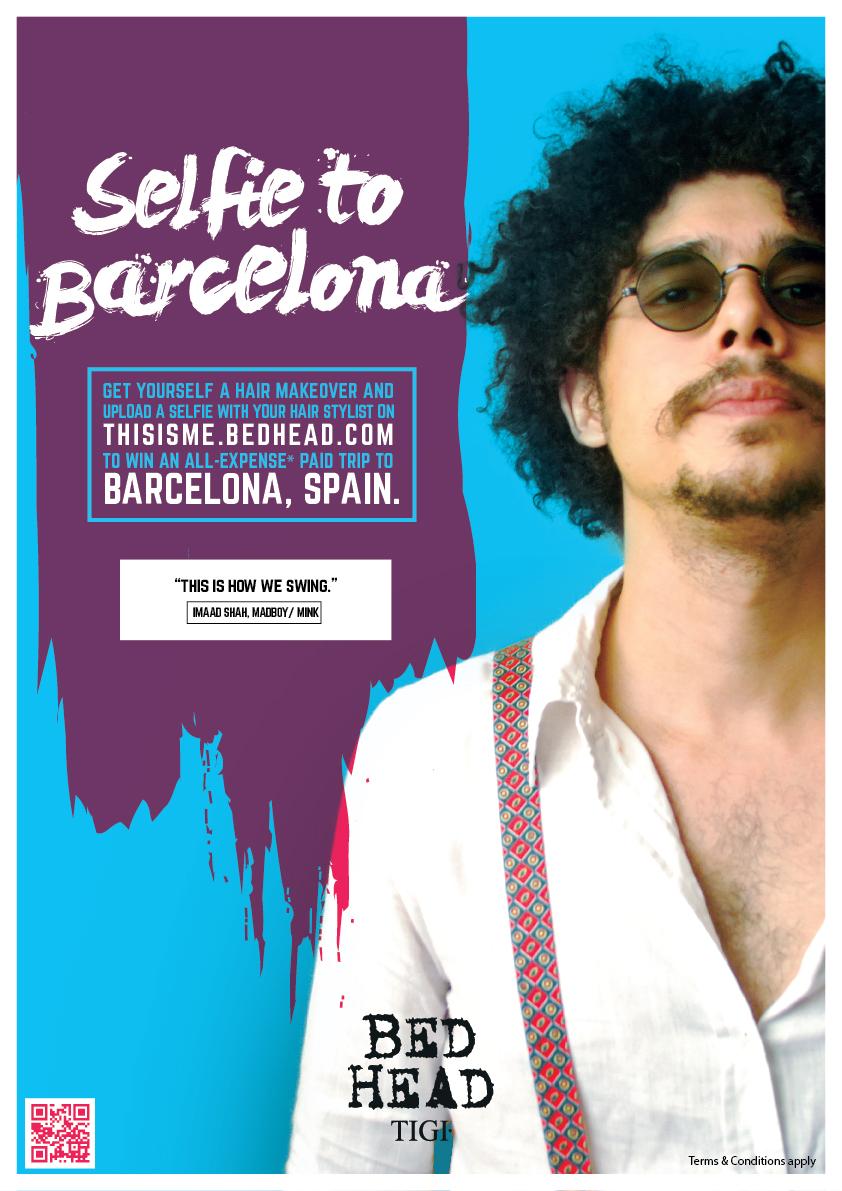Bed Head by TIGI : Selfie To Barcelona Contest