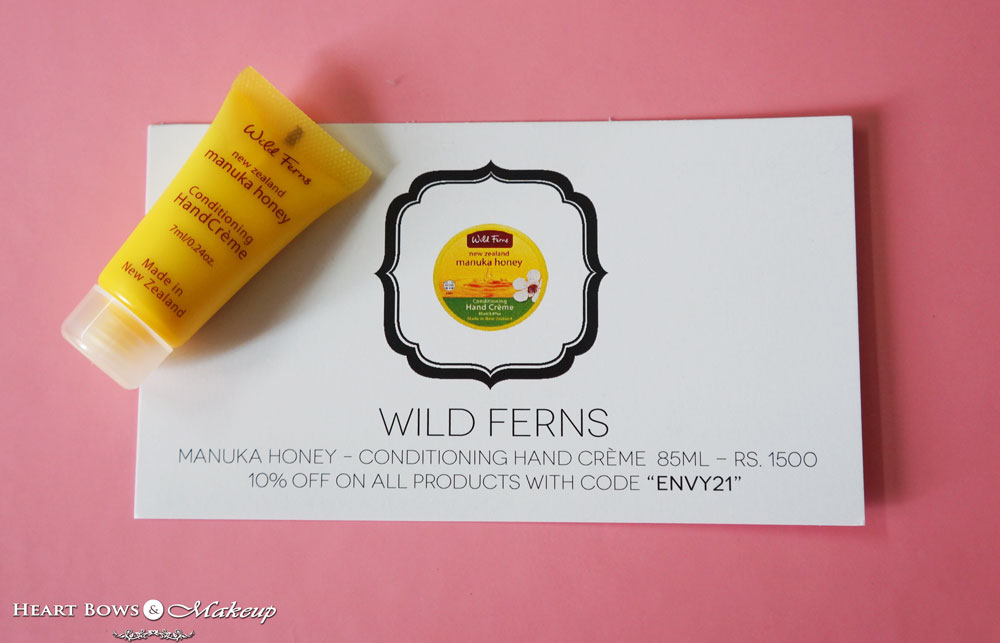 =My Envy Box August Products: Wild Ferns Manuka Honey Conditioning Hand Creme