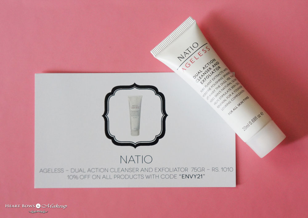 My Envy Box August: Natio Ageless- Dual Action Cleanser & Exfoliator
