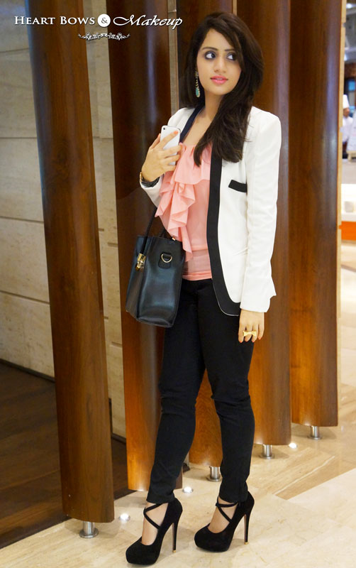 Indian Makeup Blog: Outfit Of The Day- Power Dressing feat H&M, Daniel Wellington, Addons & Zotiqq