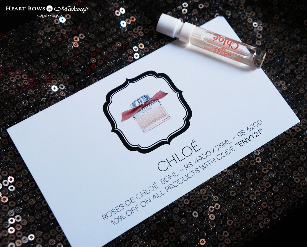 September My Envy Box Products: Roses De Chloe Perfume