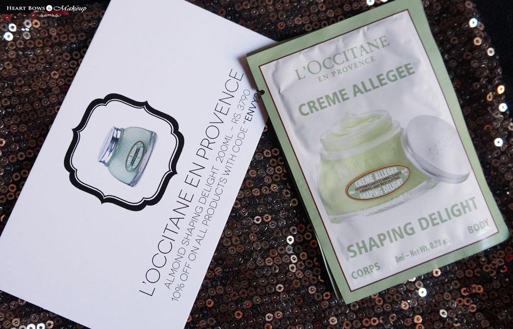 My Envy Box September Samples: L'Occitane Almond Shaping Delight