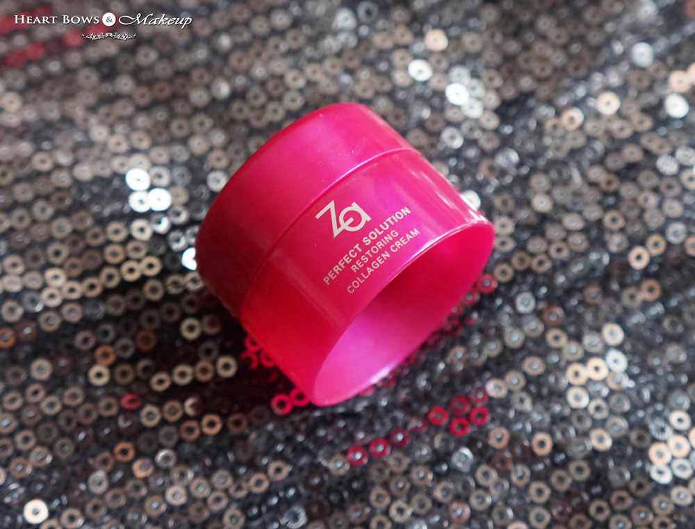 My Envy Box September Products: ZA Perfect Solution Restoring Collagen Cream