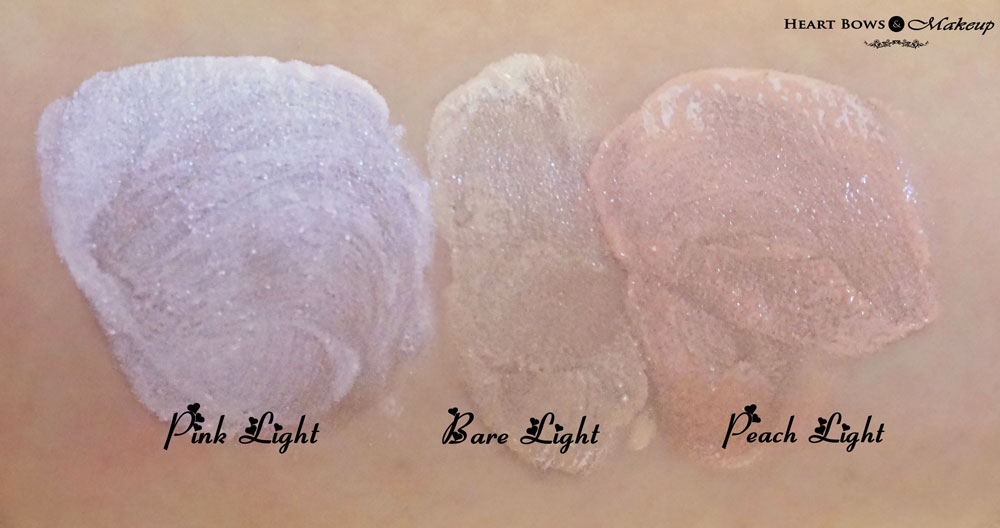 Revlon Photoready Skinlights  Face Illuminator Review & Swatches: Pink Light, Bare Light & Peach Light