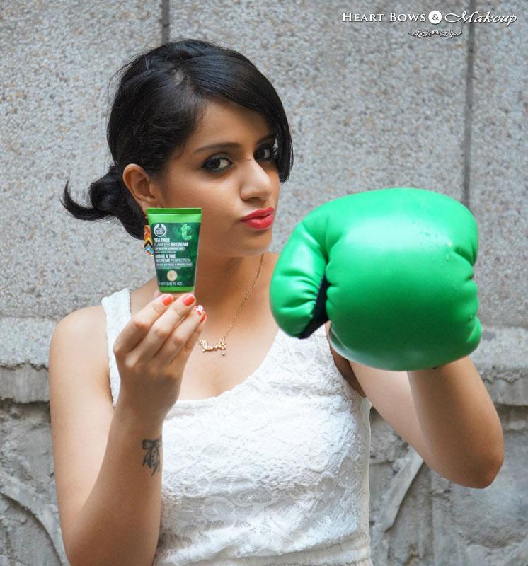 The Body Shop Tea Tree BB Cream Review, Swatches & Price India